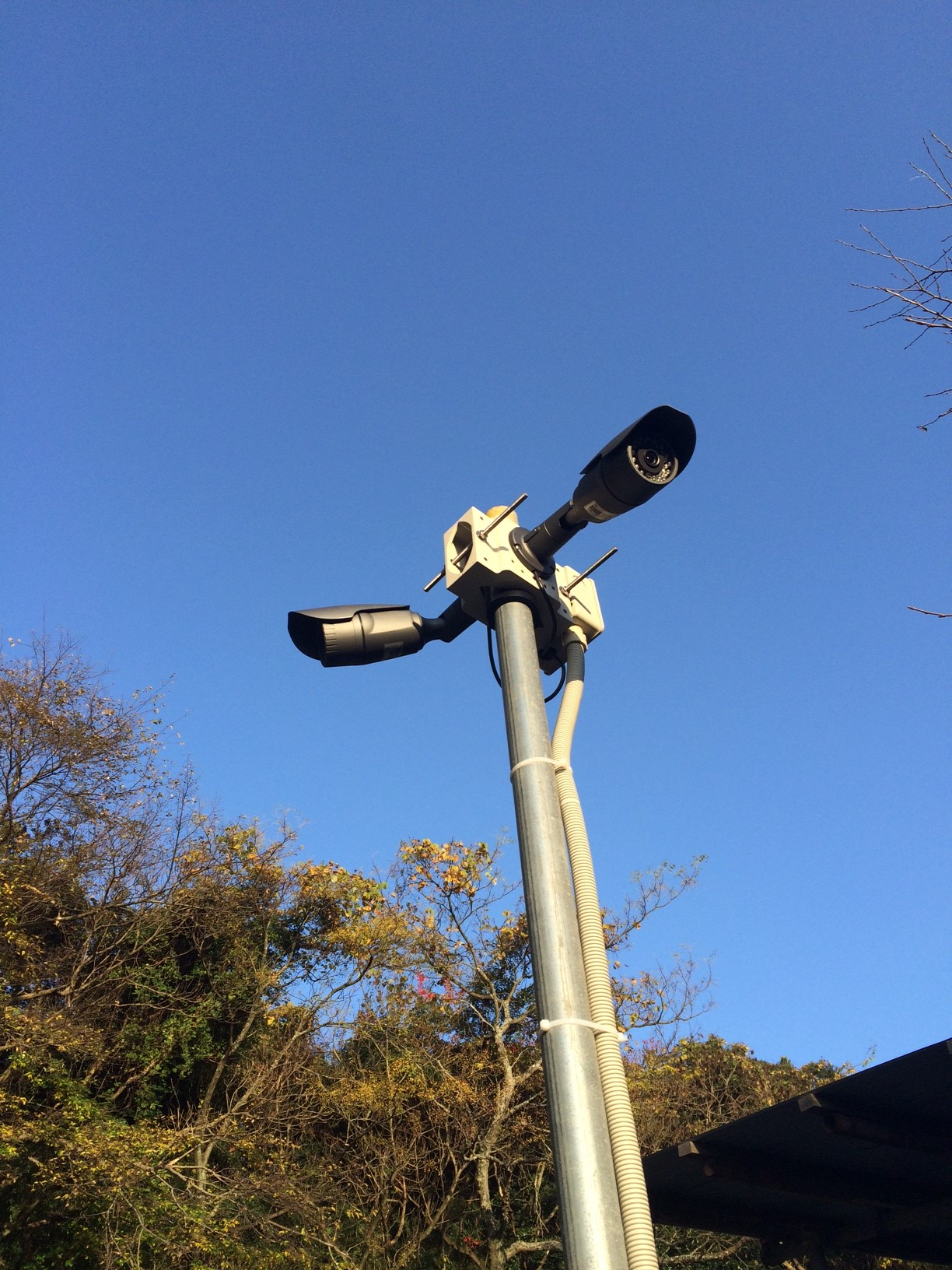 資材置き場 防犯カメラ